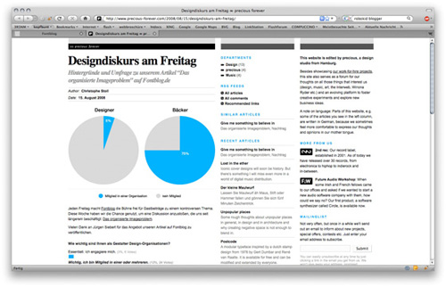 Screenshot der Umfrage auf precious-forever.com