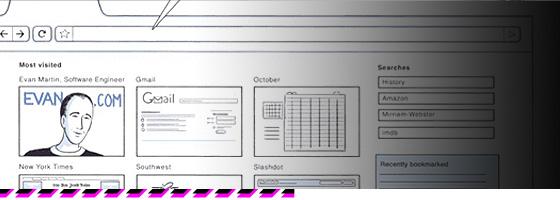 Ausschnitt der Comic-Ankündigung von Google zum Browser Chrome