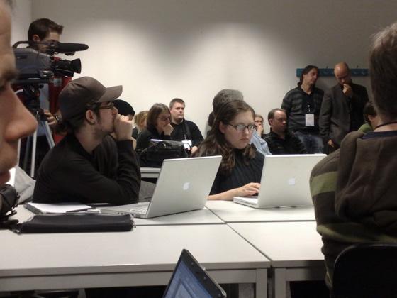 Teilnehmer während einer Session