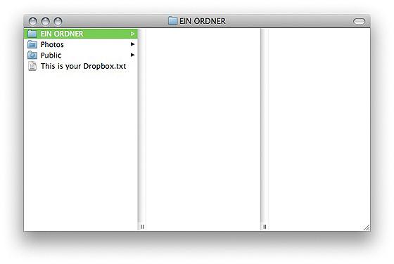 Dropbox - Ordner zur Ansicht