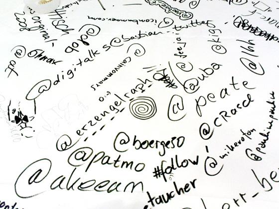 Twitterwall Barcamp Hamburg - bchh08