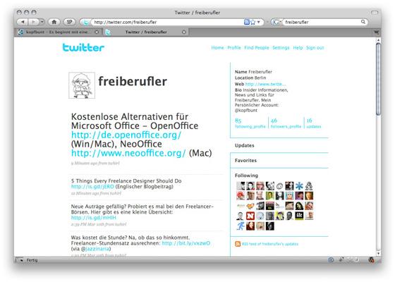 Twitter-Account @freiberufler