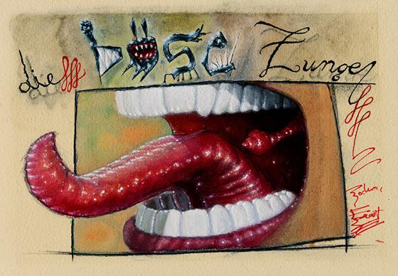 Illustration - böse Zunge
